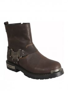 Franco Ferrara Kotníčková obuv FF1001_DARK BROWN\n\n