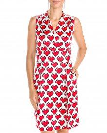 Šaty Love Moschino | Červená Bílá | Dámské | XS