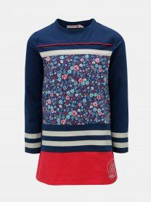 Červeno-modré květované šaty BÓBOLI