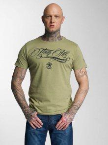 Tričko Kursiv zelená S