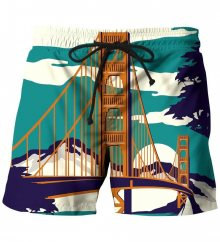 Plavky Golden Bridge barevné M