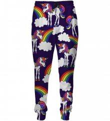 Tepláky Unicorns Pattern barevné M