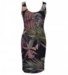 Šaty Jungle Bird barevné L