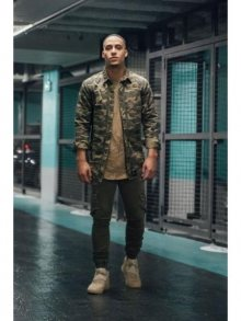 Košile Oversized & Destroy camo M