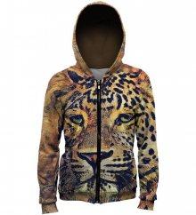 Mikina Aquarelle Leopard barevné M