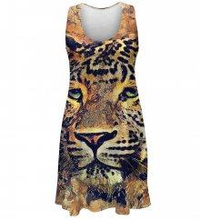 Šaty Aquarelle Leopard barevné M