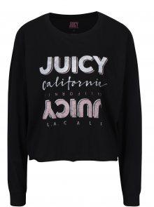 Černé tričko s dlouhým rukávem Juicy Couture