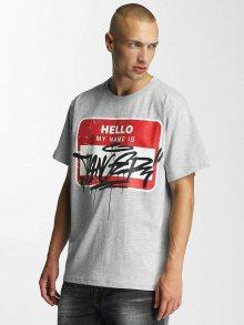 Tričko Hello šedá S