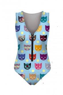 Plavky Funny Cat barevné M
