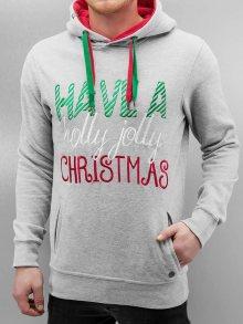 Mikina Christmas šedá světlá XL