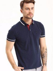 Polo tričko modrá tmavá XL