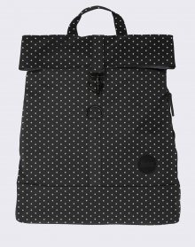 Enter City Fold Top Black/White PolkaDot