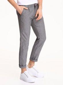 Kalhoty šedá tmavá 31