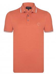 Emporio Armani Oranžovo-šedá elegantní polokošile od Armani Jeans Velikost: XL