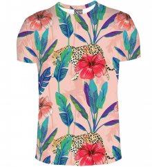 Tričko Floral Cheetah barevné M