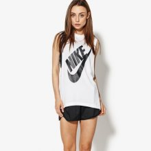 Nike Top W Nsw Essntl Top Ss Hbr Ssnl Ženy Oblečení Trička 883964-100 Ženy Oblečení Trička Bílá US M