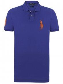 Fialovo-oranžová polokošile Big Pony od Ralph Lauren Velikost: XL