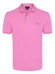 Růžová elegantní polokošile od Gant Velikost: S