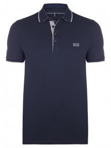 Tmavě modrá luxusní polokošile od Hugo Boss Velikost: XL