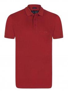 Červená elegantní polokošile od Armani Jeans Velikost: XL
