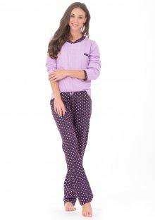 Dámské pyžamo CTM DAHLIA.PY XL Purple