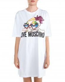 Šaty Love Moschino | Bílá | Dámské | XXS