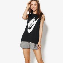 Nike Top W Nsw Essntl Top Ss Hbr Ssnl Ženy Oblečení Trička 883964-010 Ženy Oblečení Trička Černá US M