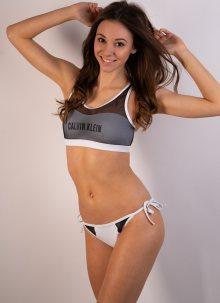 Dámské plavky Calvin Klein KW0KW00236 M Bílá
