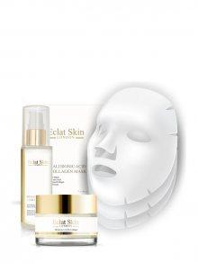 Eclat Skin Pleťová sada - sérum, krém a 3 textilní masky - s kys. hyaluronovou\n\n