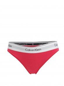 Růžové kalhotky se širokou gumou Calvin Klein