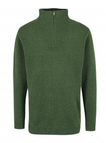 Zelený svetr s příměsí vlny JP 1880