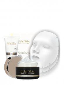 Eclat Skin Pleťová sada - maska, denní krém a 3 textilních masek\n\n