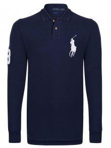 Modro-bílá polokošile Big Pony s dlouhým rukávem od Ralph Lauren Velikost: XL
