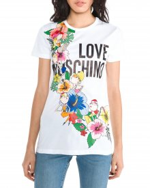 Triko Love Moschino   Bílá   Dámské   XS