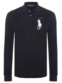Černobílá polokošile Big Pony s dlouhým rukávem od Ralph Lauren Velikost: L