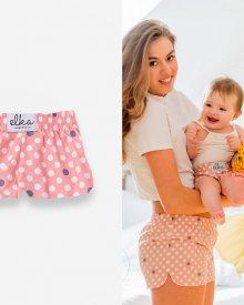 Světle růžové s puntíky for baby - Velikost : 74