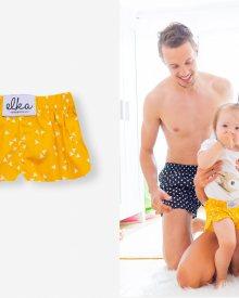 Žluté baby trojúhelníčky - Velikost : 74