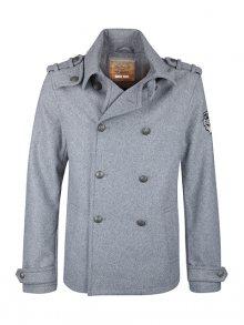 DreiMaster Pánský kabát s příměsí vlny 59036849_grau melange\n\n