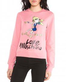 Mikina Love Moschino   Růžová   Dámské   XS