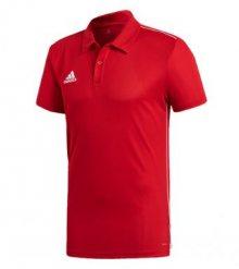 Červená sportovní polokošile od Adidas Velikost: S