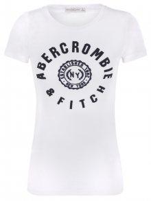 Abercrombie Bílé prémiové tričko od Abecrombie & Fitch Velikost: XL