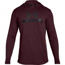 Under Armour Mk1 Terry Graphic Hoodie vínová S