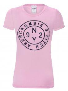 Abercrombie Růžovo-černé prémiové tričko od Abecrombie & Fitch Velikost: M