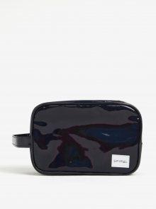 Černá metalická kosmetická taštička Spiral Black rave