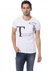 Trussardi Collection Pánské tričko M5 CODIGORO_Bianco/White