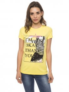 Trussardi Collection Dámské tričko D34TRC1038_Giallo/Yellow