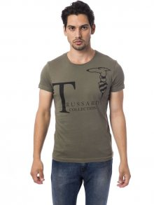 Trussardi Collection Pánské tričko M5 CODIGORO_Verde Mil/Ml. Green