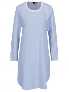 Bílo-modrá pruhovaná noční košile Ralph Lauren Henley