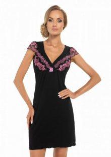 Donna Aura černá Noční košile XXL černá