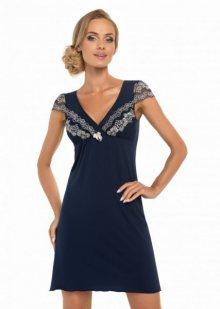 Donna Aura tmavě modrá Noční košile XXL tmavě modrá